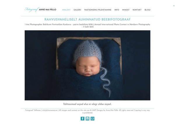 Intenetirurunduse koolitusel valminud veebileht